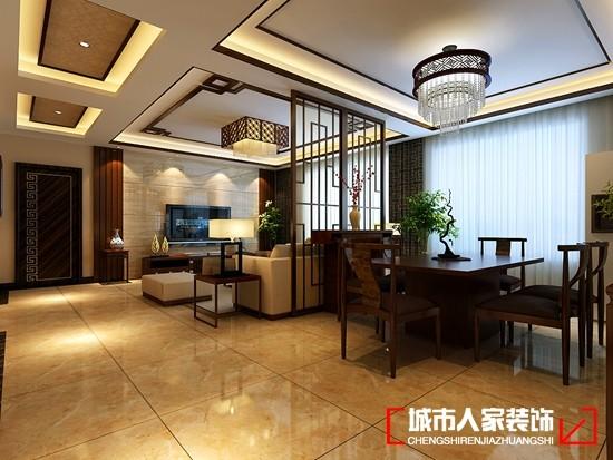 紫禁长安143㎡新中式风格作-客厅隔断