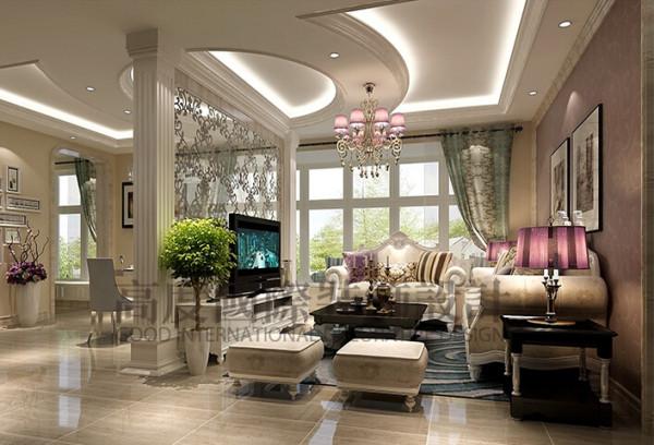 中建桐梓林装修客厅细节效果图--成都高度国际装饰