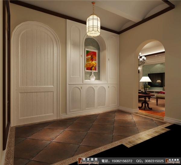 中海九号公馆装修门厅细节效果图---高度国际装饰