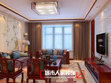 湖滨文锦170平米中式风格装修