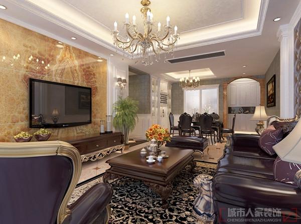 开元壹号136平米欧式风格作品-客厅电视墙