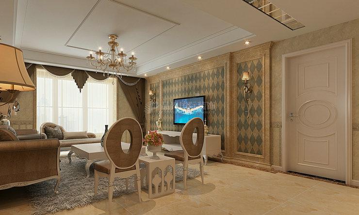 客厅图片来自石家庄亿佰居装饰在石家庄天下玉苑160平现代欧式的分享