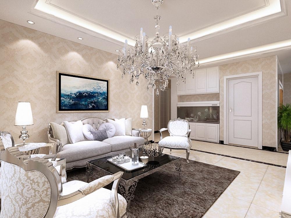 欧式 三居 白领 收纳 80后 小资 客厅图片来自阳光力天装饰在力天装饰-金侨公园壹号120㎡的分享