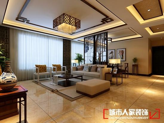 紫禁长安143㎡新中式风格作品-客厅隔断