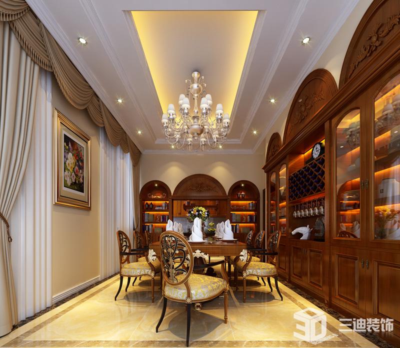 新中式 混搭 装修效果 餐厅图片来自三迪装饰在欧式宫廷厚重风格的分享
