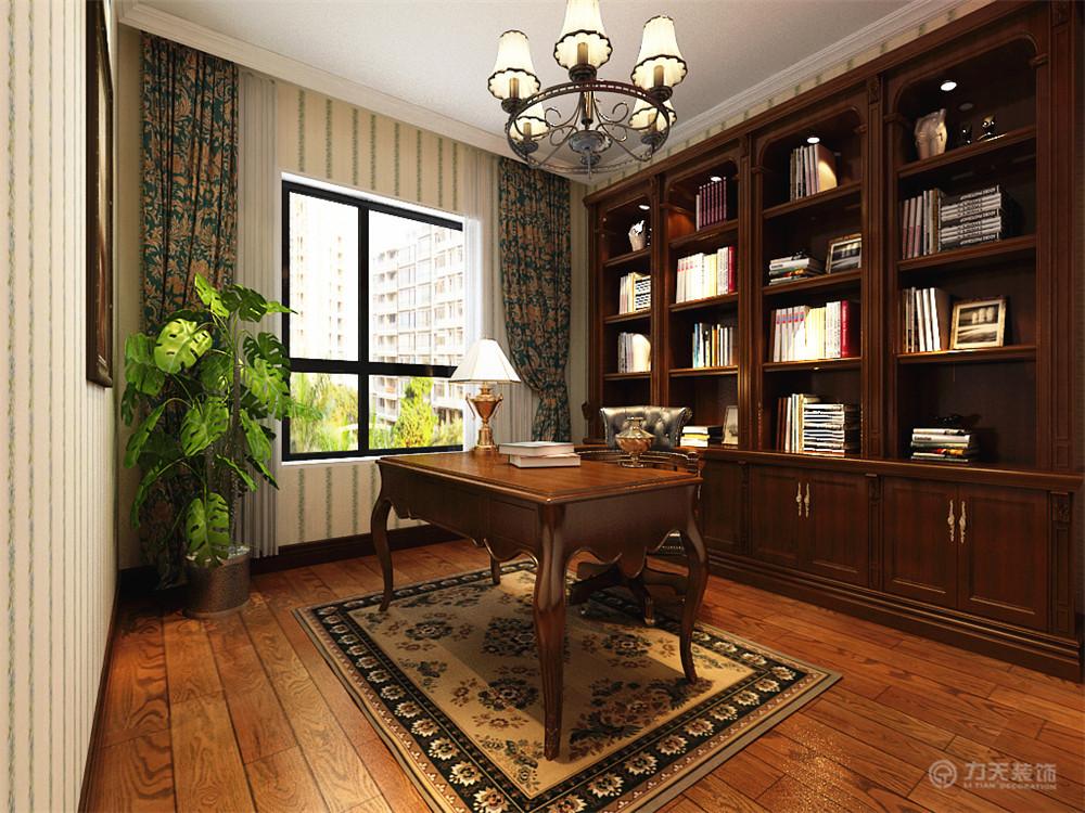 新古典 三居 白领 收纳 80后 小资 书房图片来自阳光力天装饰在力天装饰-王府壹号178㎡的分享
