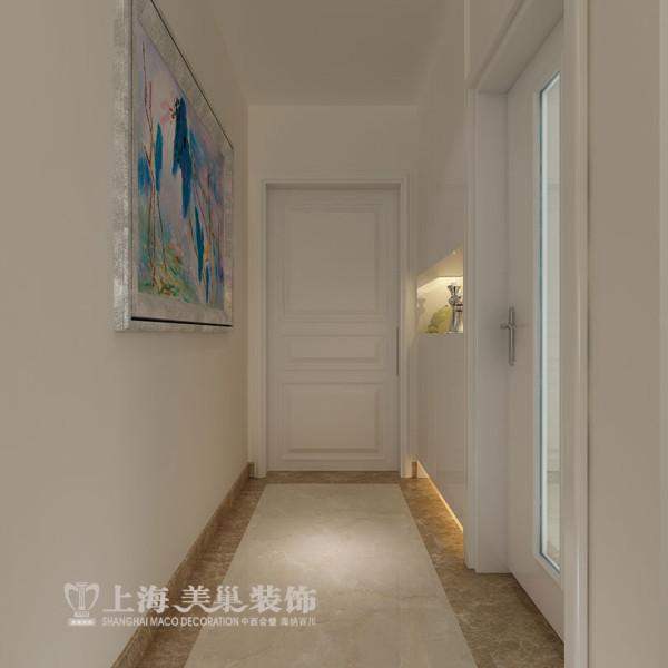 郡临天下11号楼3室2厅入门现代简约风格装修方案---入户门厅赠送一个入户花园的面积,设计方案中在这一区域用鞋柜做一个隔断墙,既能分割空间也有收纳空间,也不占用过道空间。