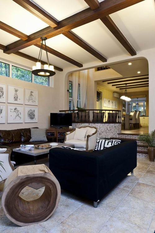 混搭 别墅 客厅图片来自上海华埔装饰郑州西区运营中心在精美别墅装修鉴赏的分享