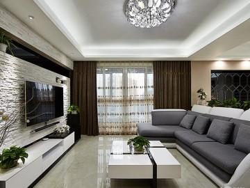 115平两室两厅现代简约三口之家