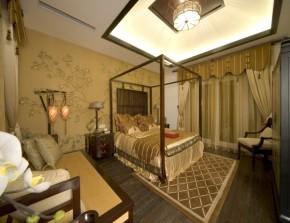 中式 三居 白领 80后 温馨 大气 客厅 卧室 卧室图片来自德瑞意家装饰小俎在独特魅力的新中式风格的分享