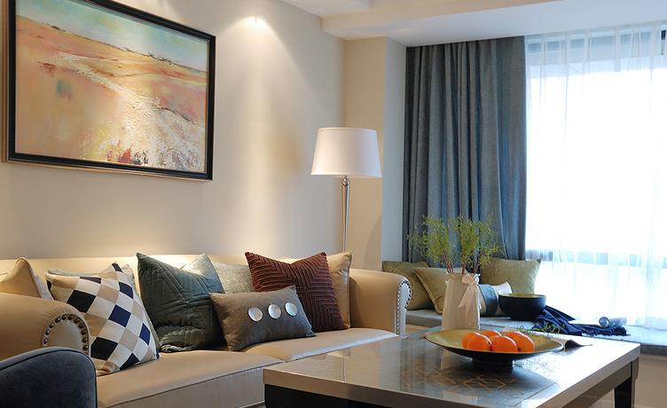 新古典 三居 温馨 舒适 客厅图片来自佰辰生活装饰在9万半包打造131平新古典低调空间的分享