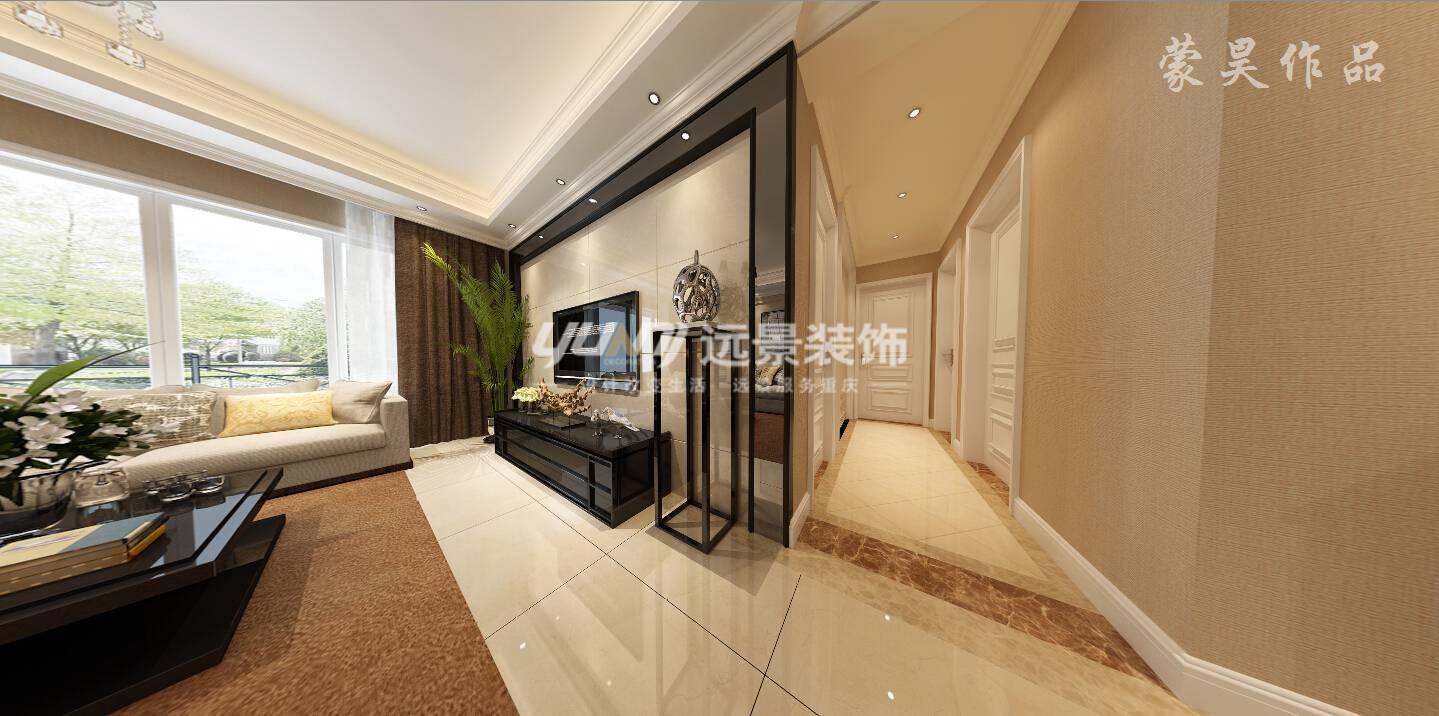 简约 现代 80后 小资 白领 客厅图片来自重庆远景装饰_张其斌在100平户型现代简约风格的分享
