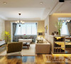 九龙城120平米三室两厅现代简约装修案例效果图-客厅、休闲区