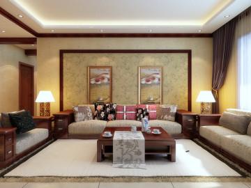 九锦台200平米中式风格