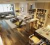 九龙城120平3室2厅现代简约装修样板间-客餐厅效果图