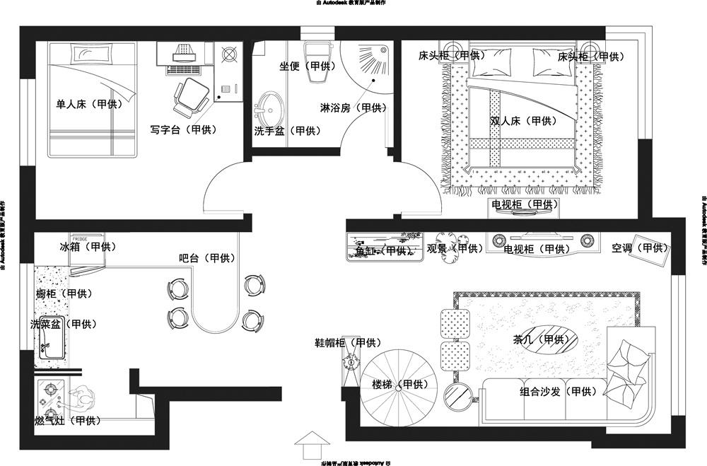 户型图图片来自天津科艺隆装饰在和泓四季恋城-港式风格-103平的分享