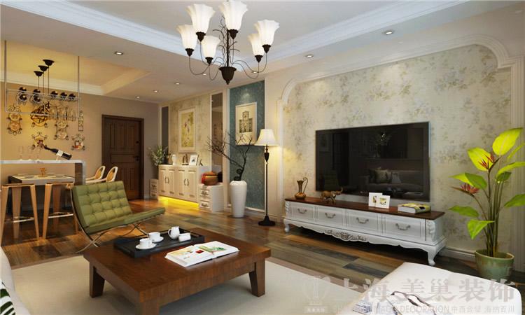 简约 三居 白领 80后 小资 客厅图片来自美巢装饰--李凌晨在九龙城120平现代简约装修效果图的分享