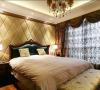软包的卧室背景墙将温馨的气氛营造的格外强烈。
