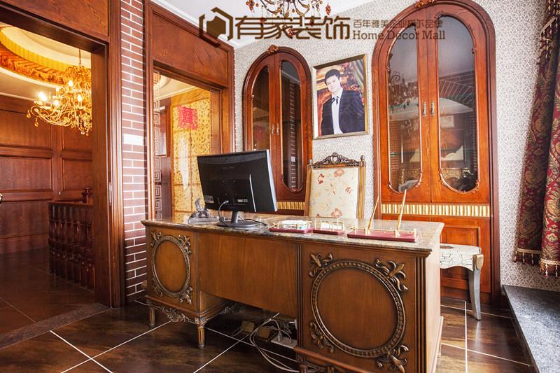 欧式 古典 复式 书房图片来自有家装饰费欢在【有家装饰】罗马佳洲的分享