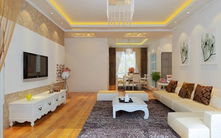 简约 三居 客厅图片来自青岛德隆装饰在现代-鸿泰兰亭的分享