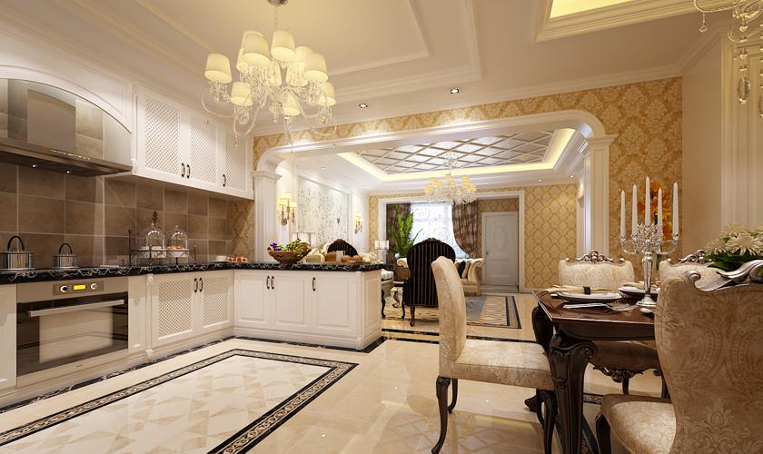 厨房图片来自青岛威廉装饰在龙湖别墅的分享