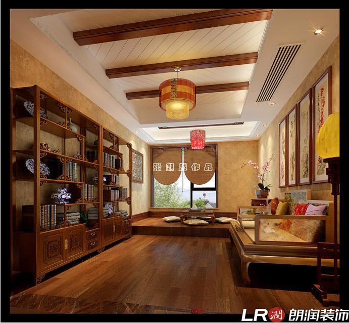 混搭 三居 四居 别墅 跃层 美式 书房图片来自朗润装饰工程有限公司在城南一号245平米美式风格的分享