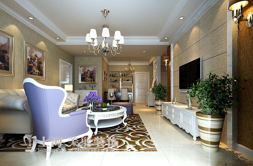 欧式 升龙城 装修 设计 家居 客厅图片来自曹素雅美巢装饰在升龙城三室135平简欧装修案例的分享