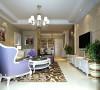 升龙城三室两厅135平简欧案例——客厅装饰效果图,整体环境选用温馨的米色系,一进家门温馨的气息扑面而来。