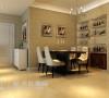 升龙城三室两厅135平简欧案例——餐厅装饰效果图