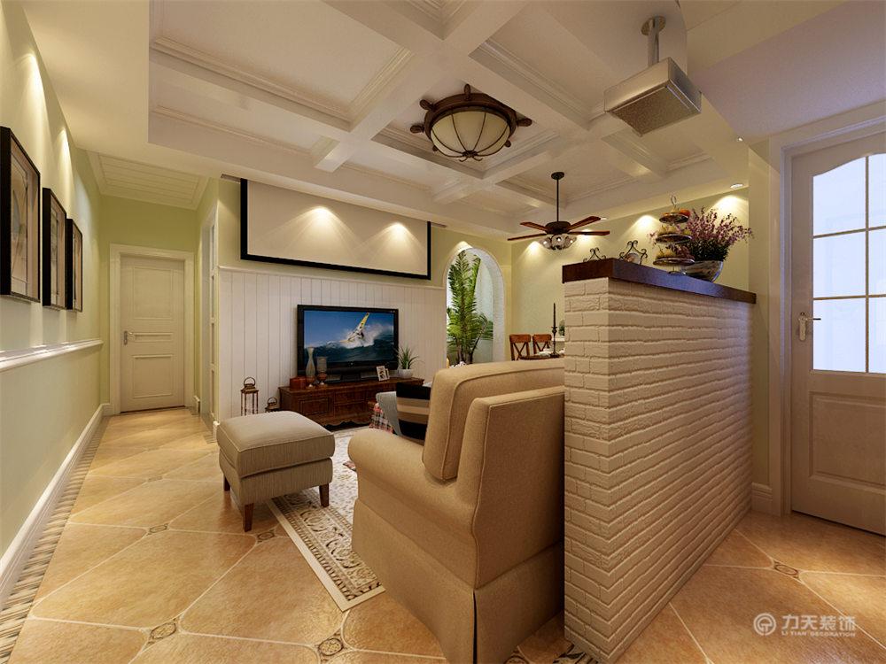 美式 二居 白领 收纳 80后 小资 客厅图片来自阳光力天装饰在力天装饰-红星国际107㎡的分享