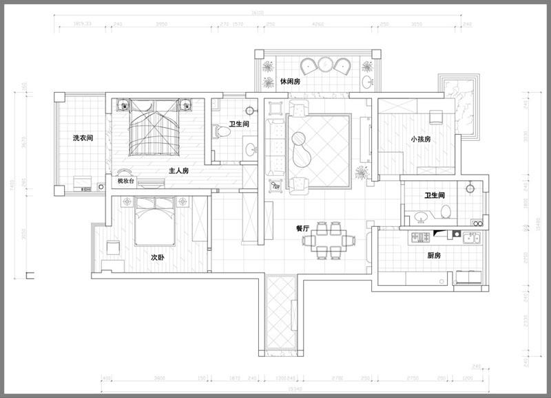 日升装饰 户型图图片来自西安日升装饰在曲江观邸140平米欧式的分享