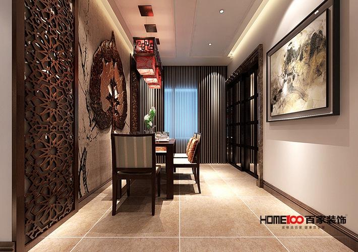 新中式风格 三居室 小资 80后 新房装修 餐厅图片来自百家装饰杨乐乐在香格里拉新中式风格的分享