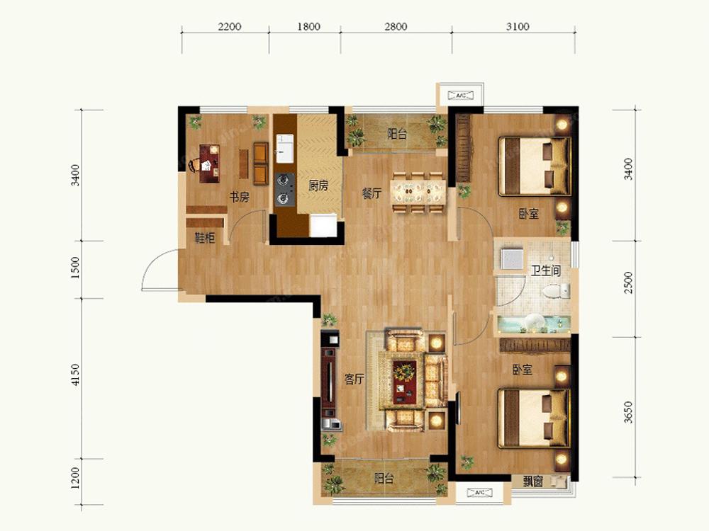 户型图图片来自tjsczs88在超大胆色彩搭配,完美家居的分享