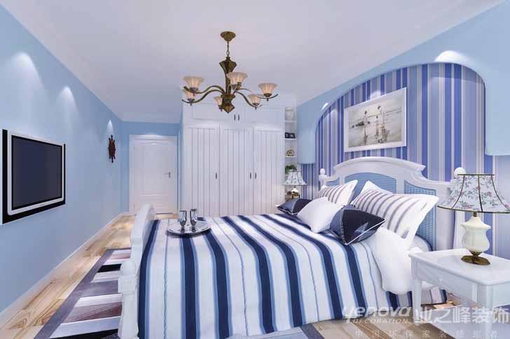 成都装修 业之峰装饰 保利康桥 三居室 白领 卧室图片来自成都业之峰装饰公司在120平蓝白格调的分享