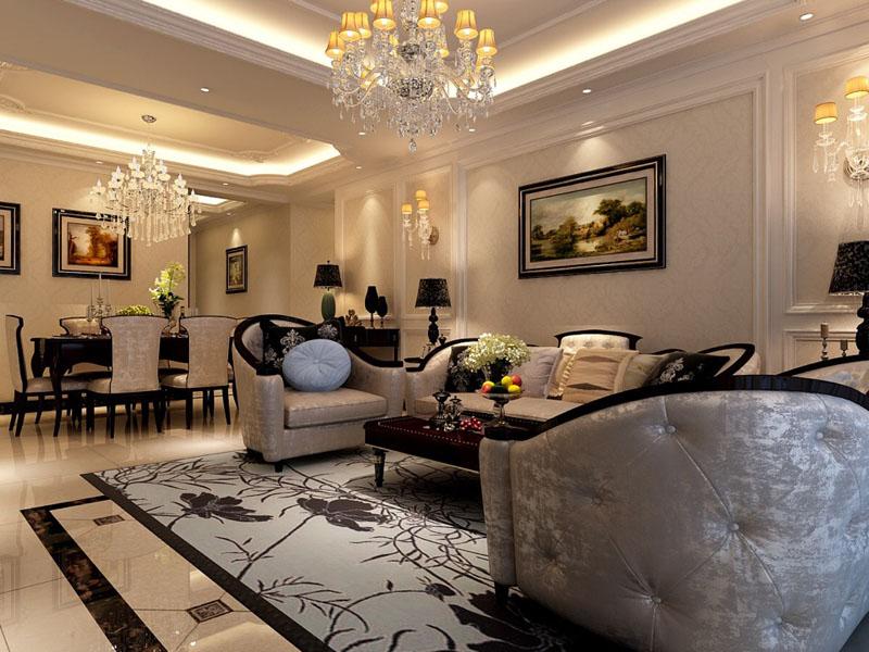日升装饰 欧式装修效 客厅图片来自西安日升装饰在曲江观邸140平米欧式的分享
