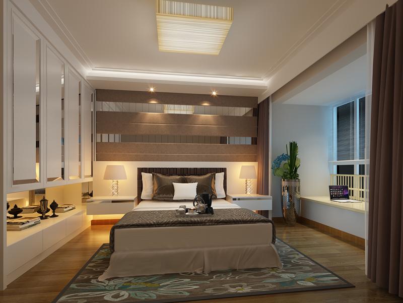 日升装饰 西安日升装 装修公司 现代简约效 卧室图片来自西安日升装饰在雅居乐·铂琅峯94平米现代简约的分享