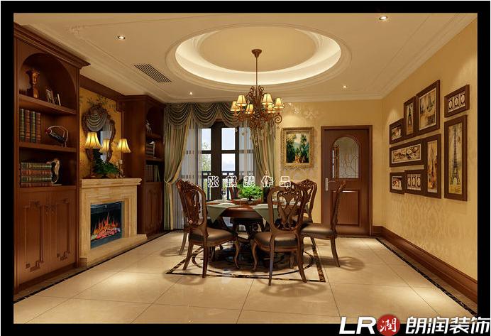 混搭 三居 四居 别墅 跃层 美式 餐厅图片来自朗润装饰工程有限公司在城南一号245平米美式风格的分享