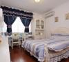 儿童房 选用了淡蓝色系,一大波地中海风格袭来