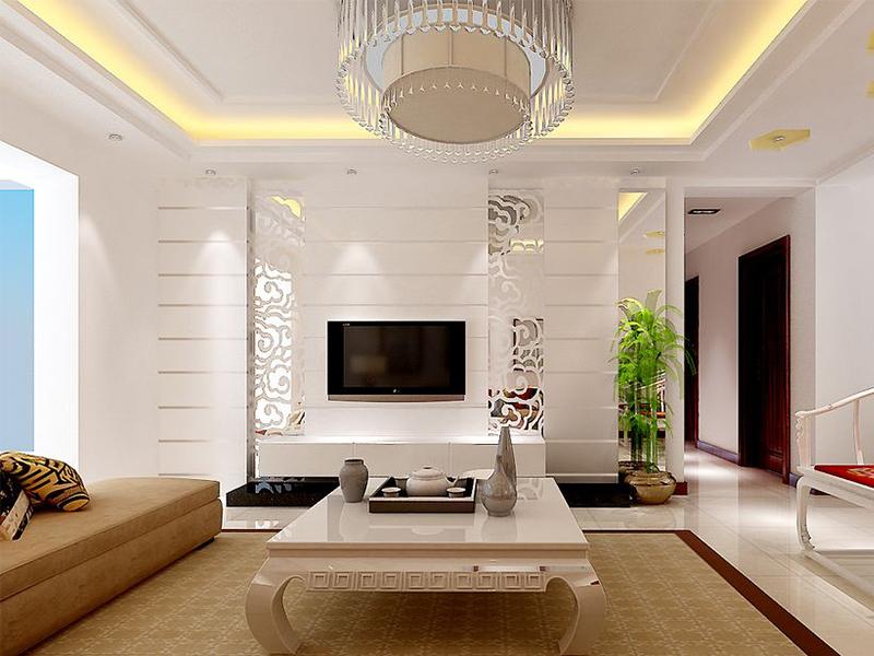 简约 二居 客厅图片来自青岛德隆装饰在现代-银座华府的分享