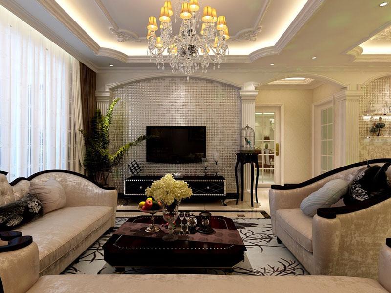 日升装饰 客厅图片来自西安日升装饰在曲江观邸140平米欧式的分享