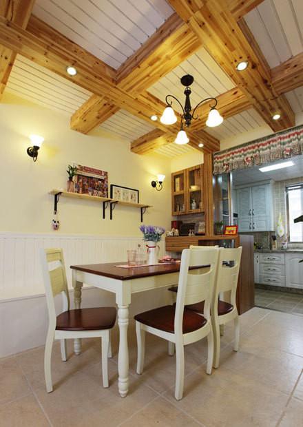 二居 混搭 餐厅图片来自四川岚庭装饰工程有限公司在清新两居室,美式变田园的分享