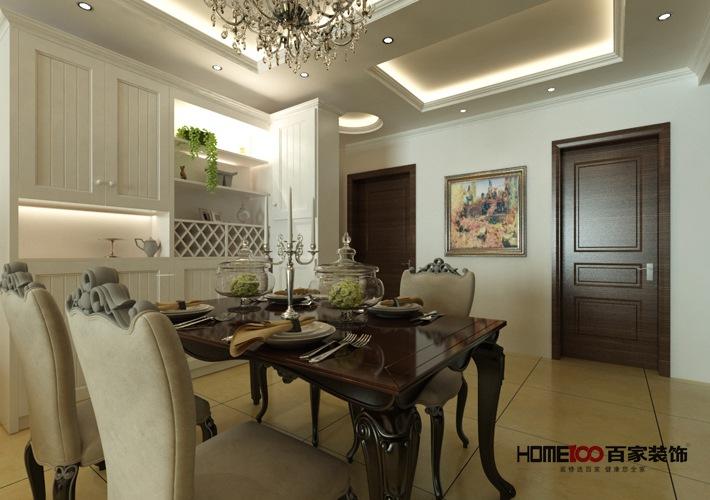 欧式 三居 白领 客厅 收纳 餐厅图片来自百家装饰杨乐乐在越秀星汇蓝海117的分享