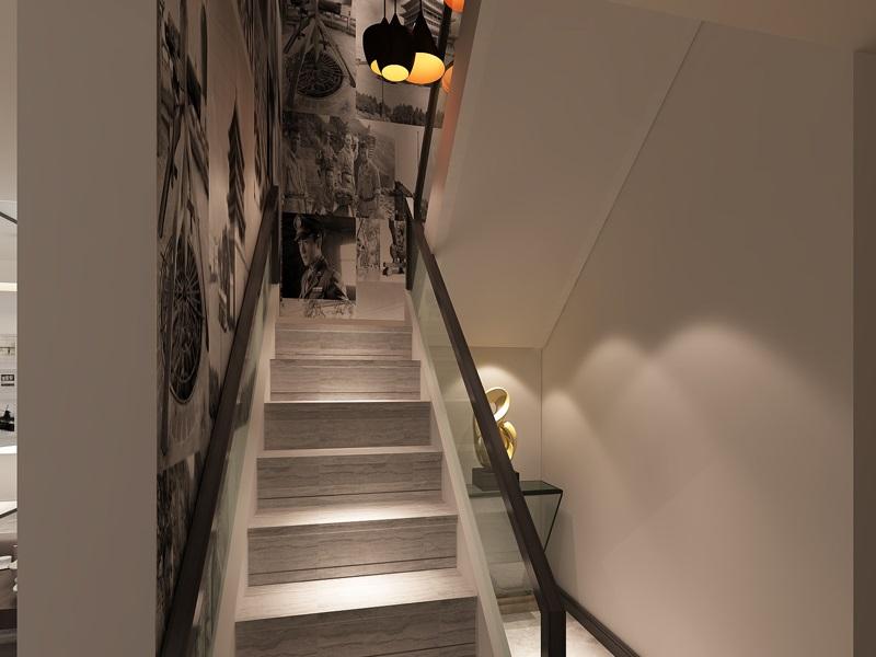 现代简约 枫叶新都市 小资 楼梯图片来自西安业之峰装饰在枫叶新都市——现代简约风格的分享