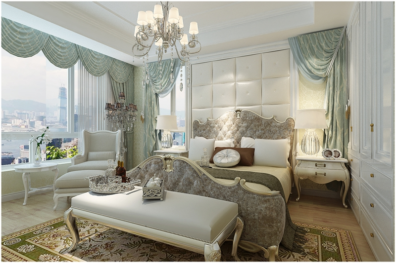 简欧 四居室 大气装修 实创 卧室图片来自快乐彩在花样年华简欧风格装修效果图的分享