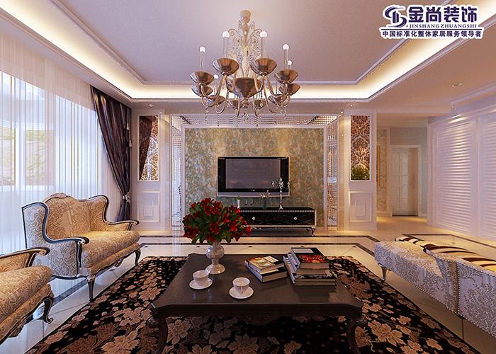 简欧 三居 时尚 客厅图片来自太原金尚装饰王卓娅在云水世纪明珠-简欧-180平的分享