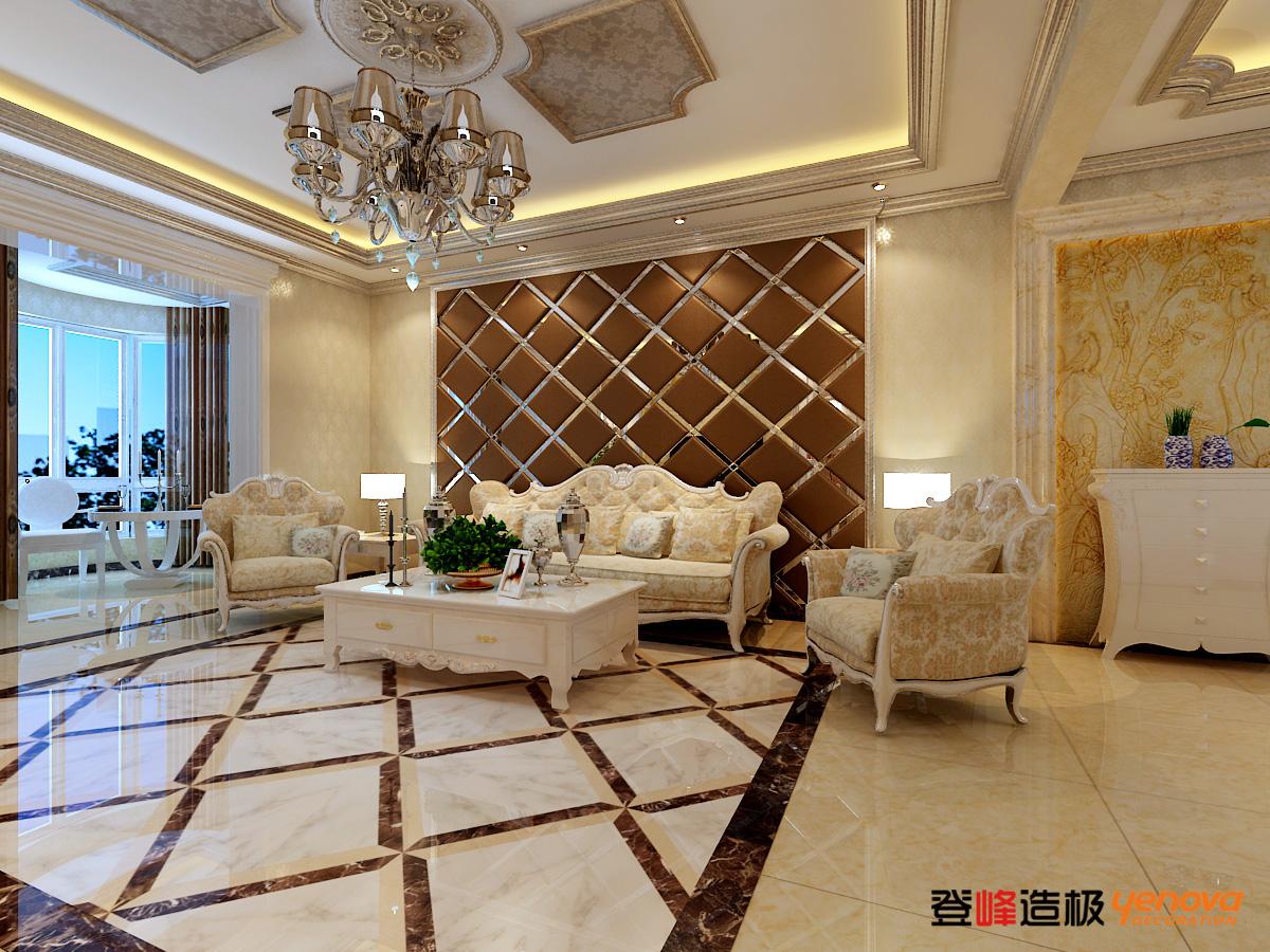 欧式 白领 小资 收纳 三居 客厅图片来自兰州业之峰大户型设计中心在兰州中广宜景湾尚城经典案例的分享