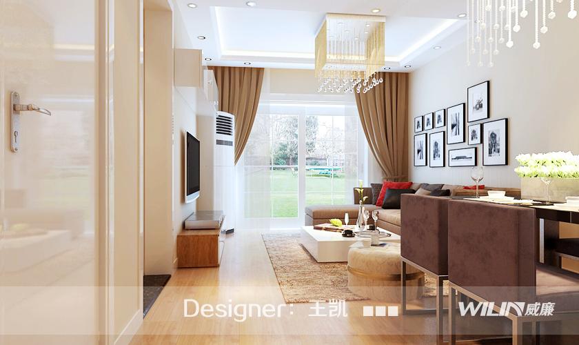 客厅图片来自青岛威廉装饰在鲁商蓝岸的分享