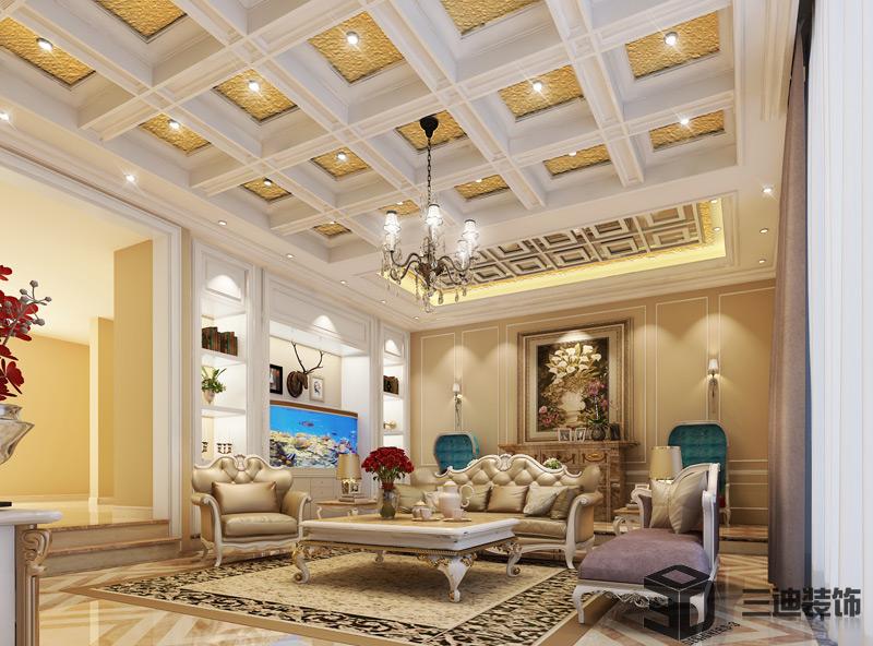 别墅 混搭 大户 客厅图片来自三迪装饰在曦城别墅-舒适与意境的有机结合的分享