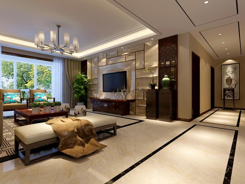 日升装饰 西安日升装 装饰效果图 装修公司 客厅图片来自西安日升装饰在曲江亮丽家园150平米中式的分享