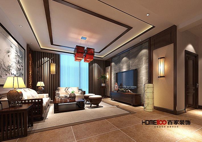 新中式风格 三居室 小资 80后 新房装修 客厅图片来自百家装饰杨乐乐在香格里拉新中式风格的分享